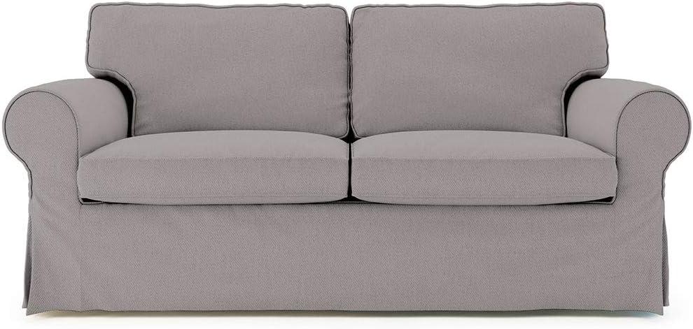 TLY Funda de sofá de repuesto de algodón para Ektorp Sleeper, Ektorp Funda de sofá cama