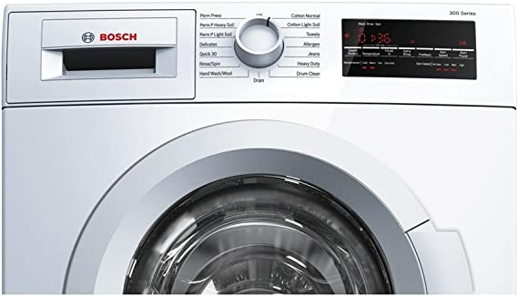 Bosch WAT28400UC 300 2.2 Cu. Ft. White Stackable Front Load Washer - Energy Star