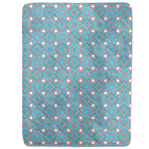Arabic Latticework Fitted Sheet: King Luxury Microfiber, Soft, Breathable by uneekee