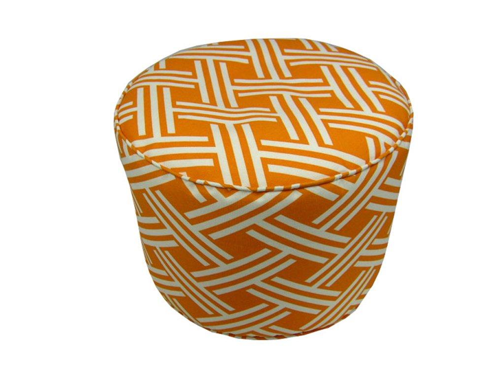 Lava 54025.821 Indoor Or Outdoor 17x17 Pouf In Fresco Orange