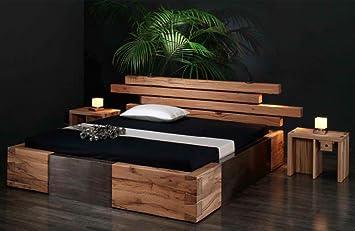 Massivholzbett Brunhilde Rustikales Designerbett Größe200x200cm