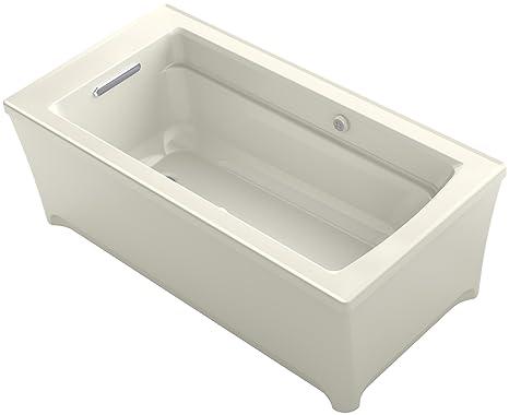 Kohler Vasca Da Bagno : Kohler archer autoportante con bolla d aria da bagno con superficie
