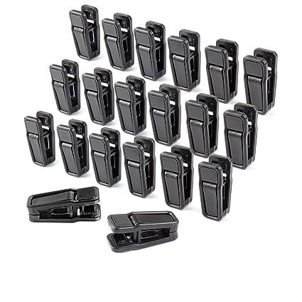 homeerr p1638071 HANGERWORLD - Juego de clips de plástico para la ropa Perchas para pantalones, extraíble, 40 unidades, color negro