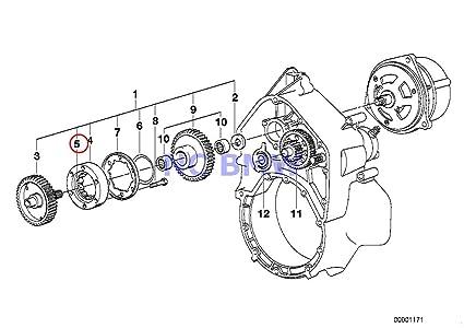 bmw genuine starter 1-way clutch/reduct gear shaft free wheel cage k1 k100rs