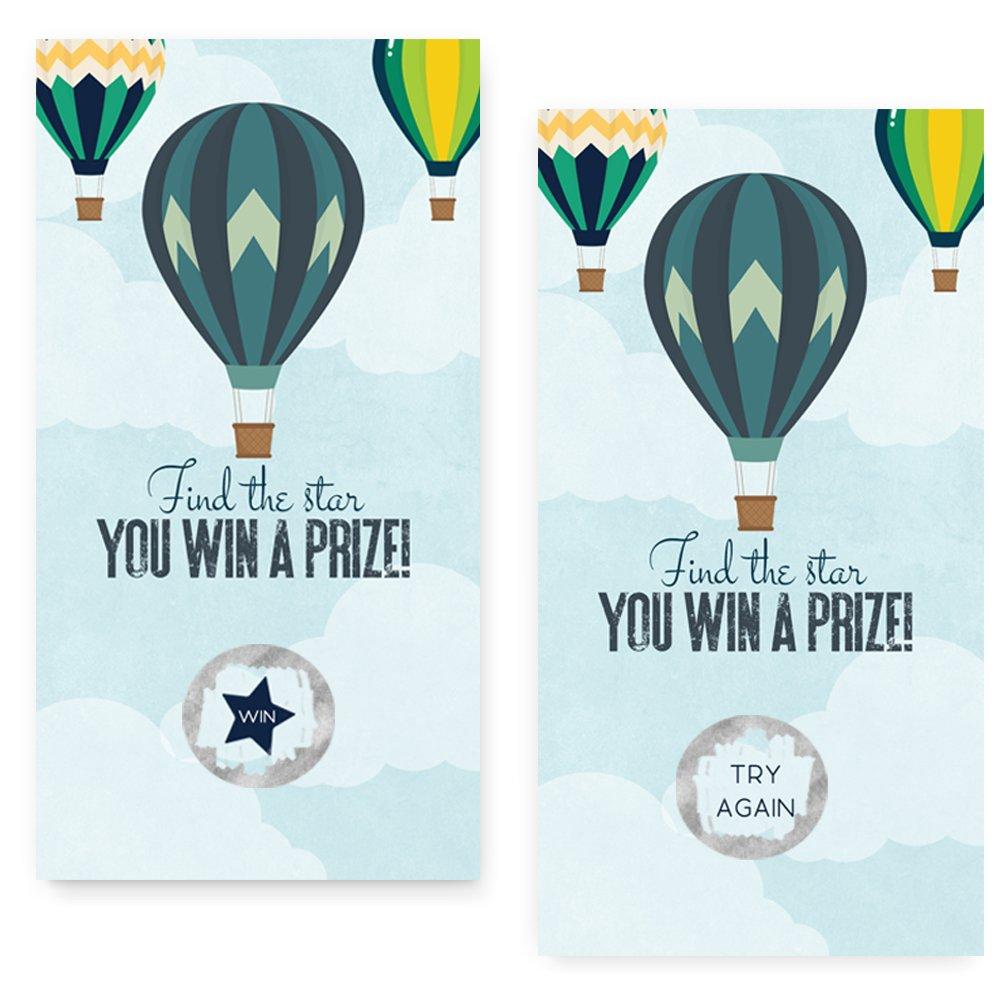 Balloon Baby Shower Scratch Off Game Card Set