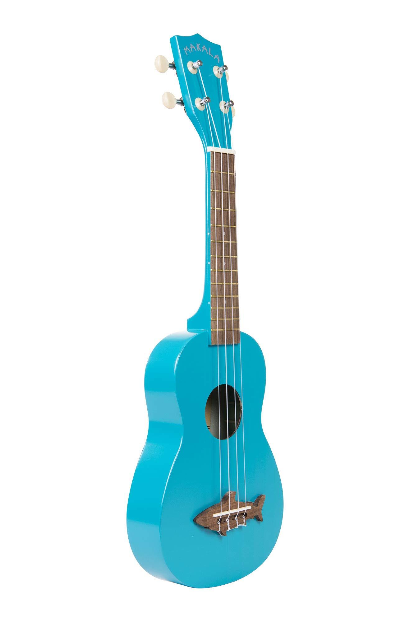 Kala Makala Shark Ukulele, 4-String, Blue, One Size (MK-SS/BLU)