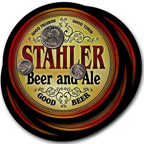 Stahlerビール& Ale – 4パックドリンクコースター   B003QX55KI