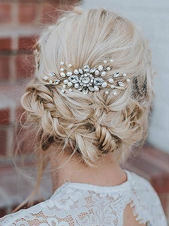 Amazon Com Barogirl Wedding Hair Combs Faux Pearl Wedding Hair
