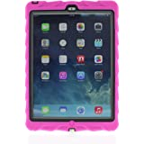 Apple iPad Air Drop Tech Pink Gumdrop Cases Silicone Rugged Shock Absorbing Protective Dual Layer Cover Case