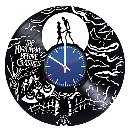 Design Decorative HANDMADE Vinyl Record Wall Clock - Get unique nursery wall decor - Gift ideas for kids, boys and girls – Film Characters Unique Modern Art