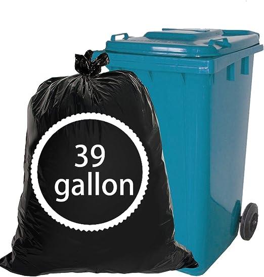 Nicesh 30 Gallon Garbage bags 65 Counts Black Large Trash Bags