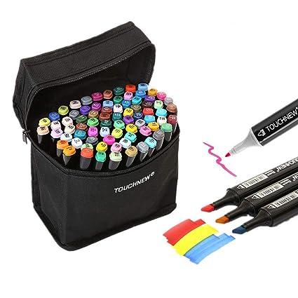 Togood | 40 diversi colori per bozzetti artistici: pennarelli, due punte -  fine e spessa | Set professionale di pennarelli per colorare, dipingere, ...