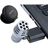 Movo Mini Omnidirectional USB Computer Microphone with USB Adapter Compatible with Laptop, PC and Mac, Perfect…