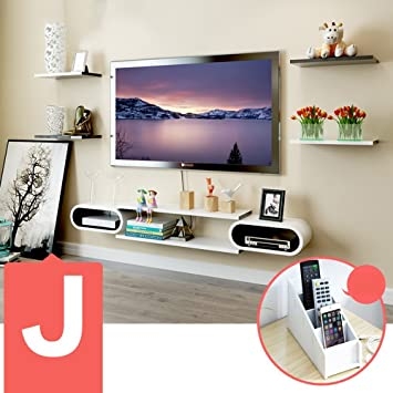 DIDIDD Set Top Box Regale Tv Schrank TV Wand Regale Wohnzimmer Wand