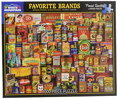 White Mountain Puzzles Favorite Brands - 1000 Piece Jigsaw Puzzle