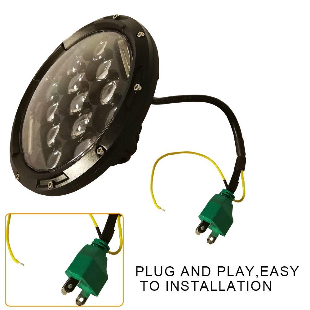 2x 75w 7 Inch Cree Led Headlight For Hummer H1 H2 Jeep Wrangler Jk Cj5 Wiring Head Light Tj Lj Cj