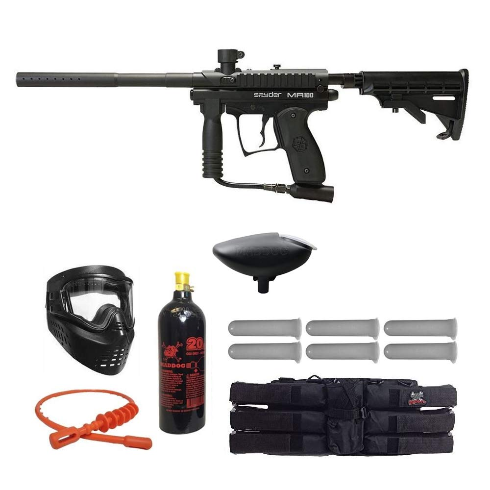 MAddog Spyder MR100 Pro Titanium Paintball Gun Package - Black by MAddog