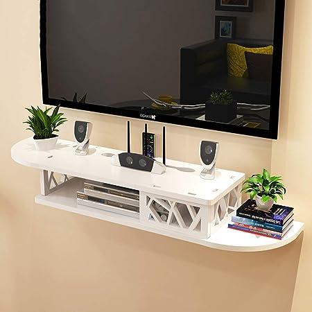 ZPWSNH Estante de Pared Mueble de TV montado en la Pared Mueble de Fondo TV Decoración