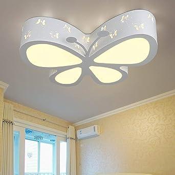 Moderna lámpara LED de techo para niños, mariposas, lámpara de ...