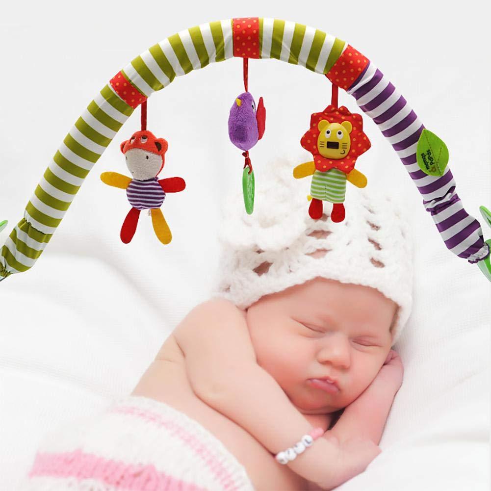 Bebé colgando campana-bebé cama clip cochecito colgante adorable niños sonido juguetes cama colgante sonajero cuna música cama campana proyección juguete ...