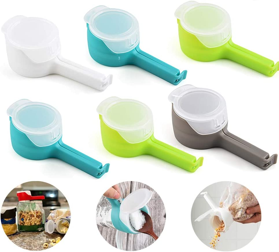 Seal Pour Food Storage Bag Clip Snack Food Sealing Clip Food Storage Sealing Clips with Pour Spouts Moisture Sealing Clamp with Large Discharge Nozzle Sealing Clamp Food Saver Kitchen Snack Tool