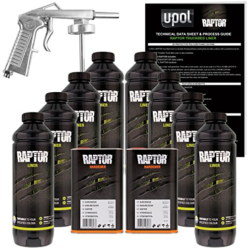 U-POL Raptor Tintable Urethane Spray-On Truck Bed Liner Kit w/ FREE Spray Gun, 8 Liters by U-Pol (Image #9)