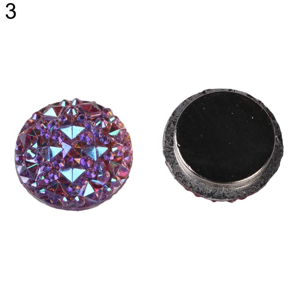 Yinpinxinmao 1Pair Muslim Round Magnet Brooch Pins Clasp Hijab Scarf Abaya Clothes Jewelry 3