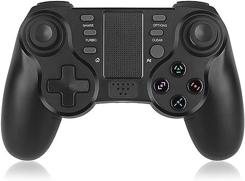 Elyco Mando para PS4, Wireless Bluetooth dualshock Inalámbrico Gamepad Controlador Controller Joystick Joypad Vibración Doble Remoto Compatible con Playstation 4/PS4 Slim/PS4 Pro/PS3: Amazon.es: Electrónica