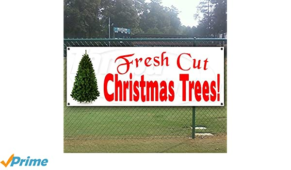 Fresh Cut Christmas Trees Sign.Retail Services Christmas Trees Fresh Cut Advertising