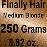 Finally Hair Hair Fiber Refill 250 Grams 8.82 Ounces for Hair Loss Concealing by Finally Hair (Light Medium Blonde)