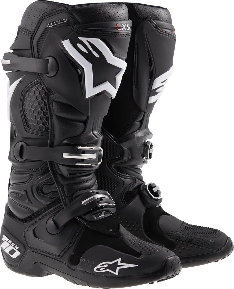 Alpinestars Tech 10 Men's Off-Road Motorcycle Boots - Black / 9
