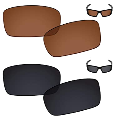 882f879e9e Galvanic Replacement Lenses for Oakley Crankcase Sunglasses - Amber + Black  Polarized - Combo Pack