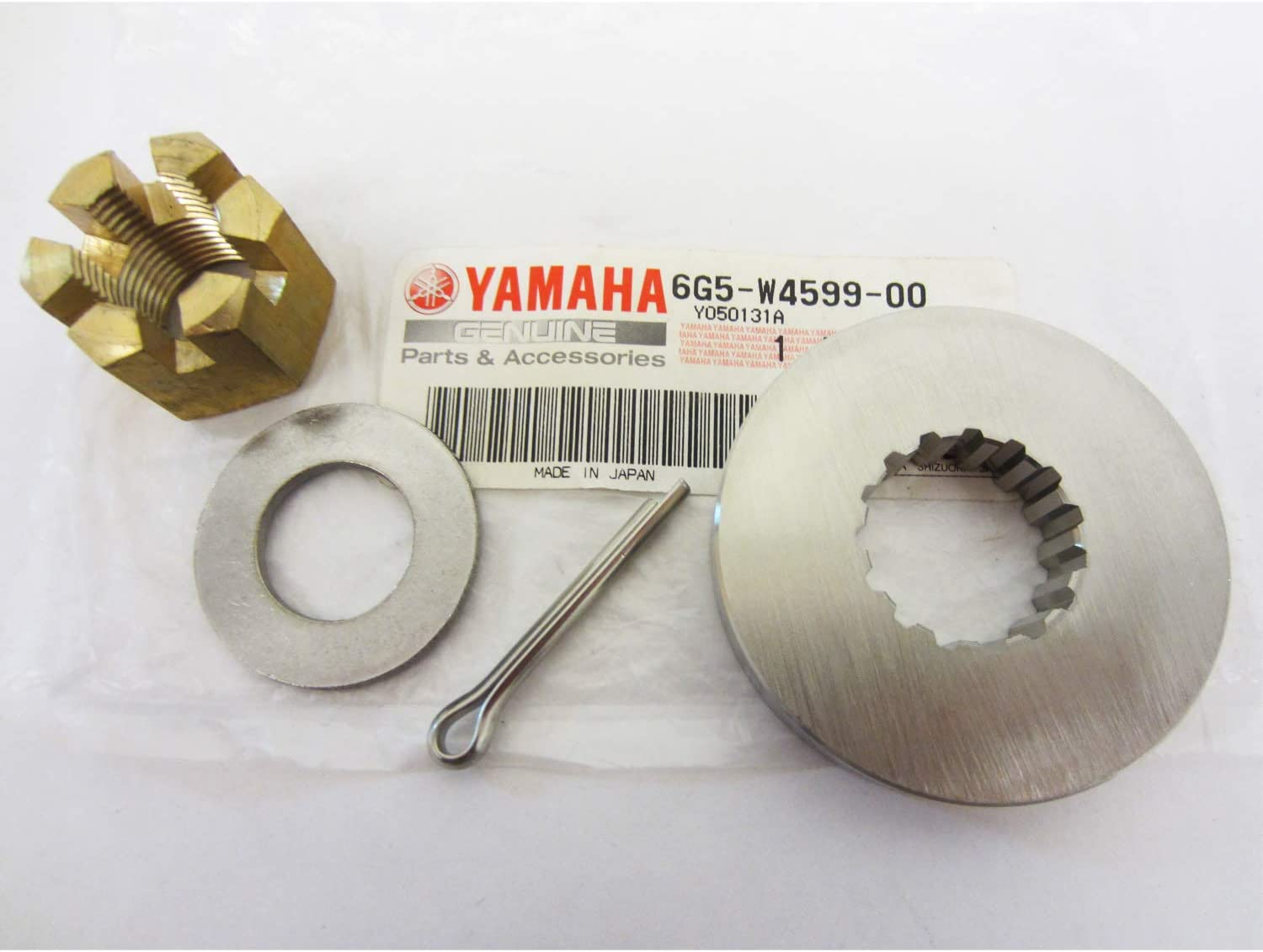 Thrust Washer//Spacer//Washer//Nut//Cotter Pin Included Jason Marine Propeller Installation Hardware Kits fit Yamaha Outboard40-60HP