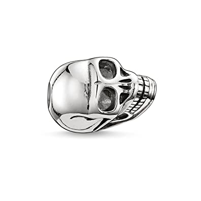 Thomas Sabo Women Men-Bead Skull Karma Beads 925 Sterling Silver blackened K0064-001-12 WptS5TDi