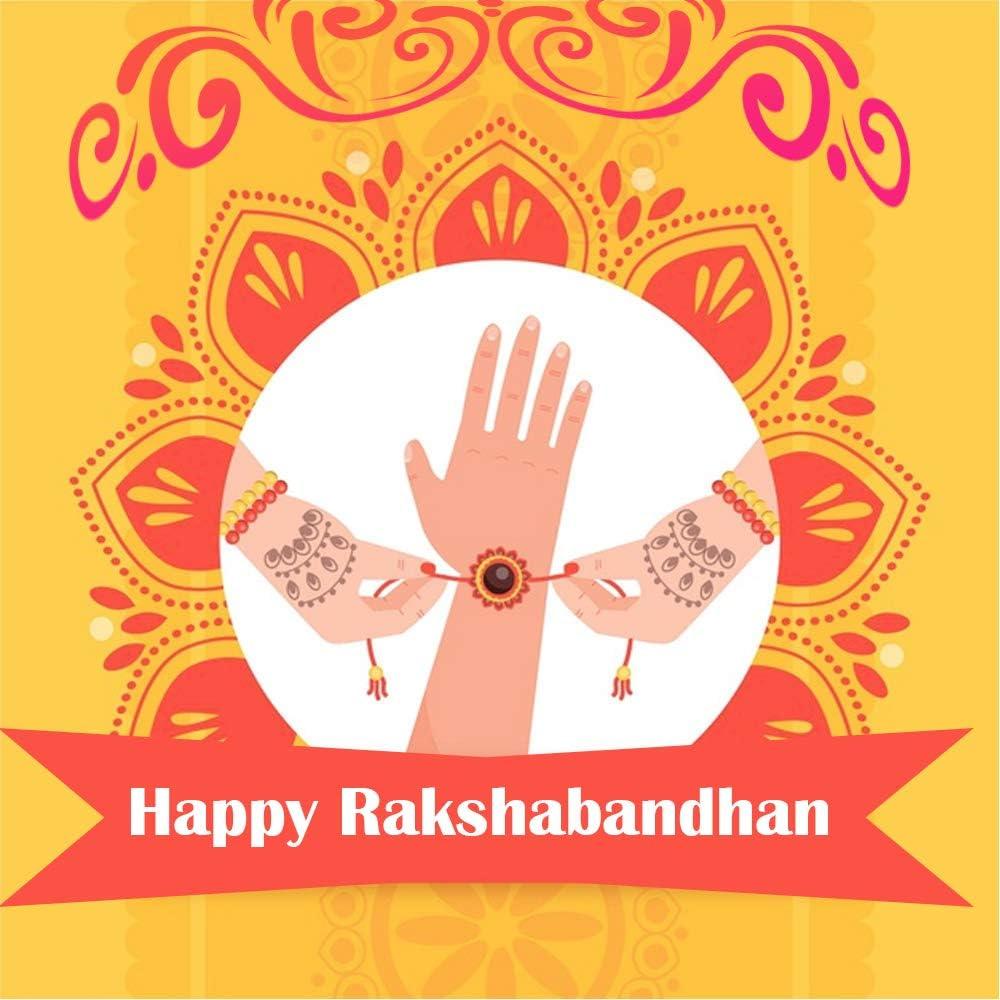 Raksha Bandhan Geschenk f/ür Ihren Bruder WhopperIndia Set von zwei Rakhi variieren Farbe 2Stone and10 Rassen Rakhi