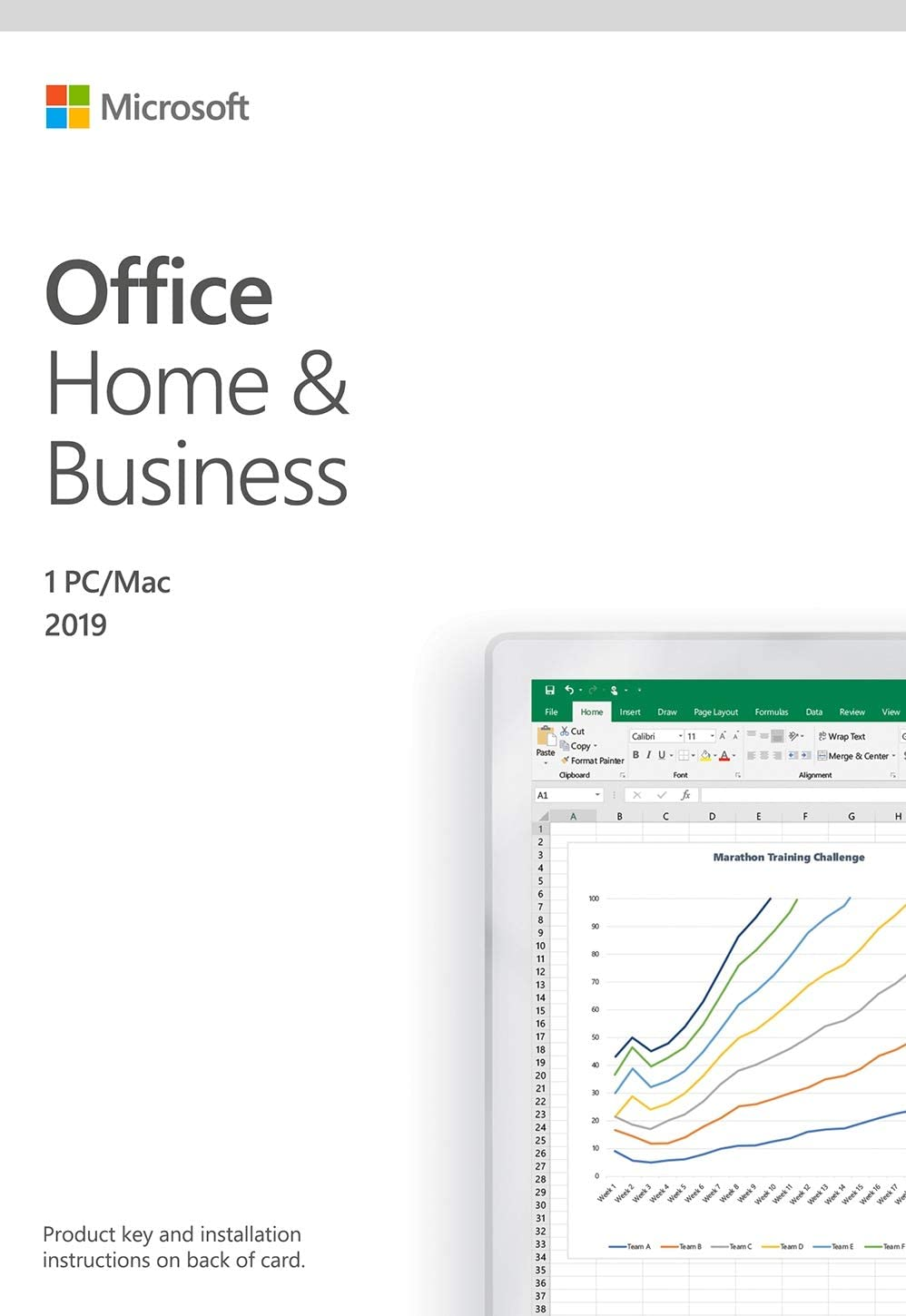 MS OFFICE 2019 HOME & BUSINESS EN OEM, #T5D-03441