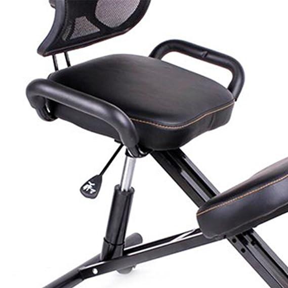 hukoer piel negro silla ergonómica/silla de oficina de rodillas con ruedas: Amazon.es: Hogar
