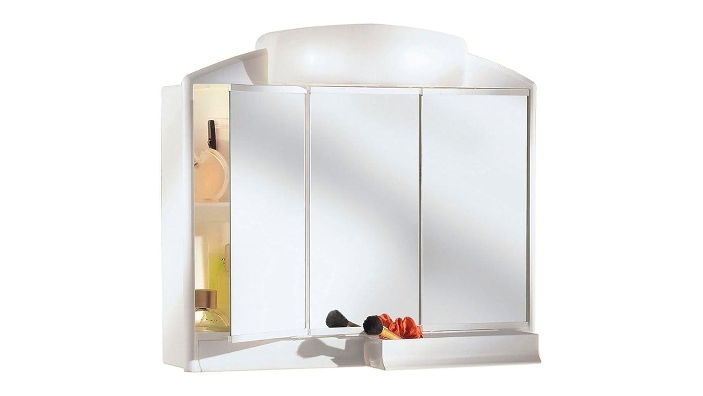 spiegelschrank mit beleuchtung und ablage. Black Bedroom Furniture Sets. Home Design Ideas