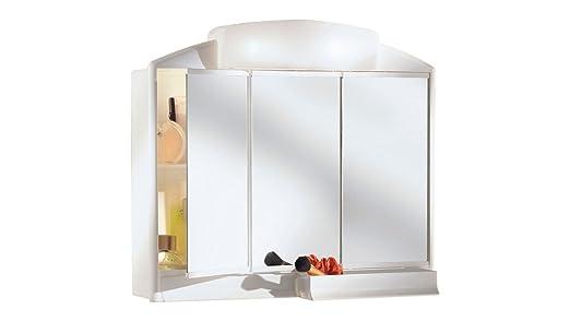 Jokey M256634 - Armario baño 3 Puertas con luz Rando: Amazon.es: Hogar