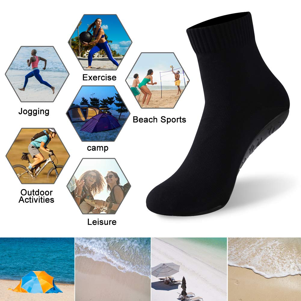 Breathable Seamless Yoga Sock With TPE Sole Barefoot Quick-Dry Sand Beach Socks