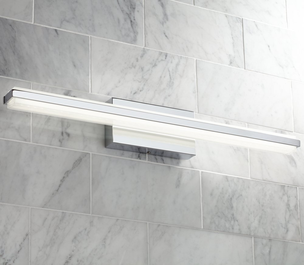 Possini euro eloe chrome 31 14 wide linear led bath light possini euro eloe chrome 31 14 wide linear led bath light amazon aloadofball Image collections
