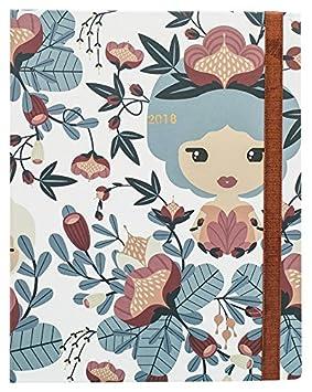 Grupo Erik Editores AGVSVP1703 - Agenda 2018 Semana Vista Premium Lil Ledy Blossom