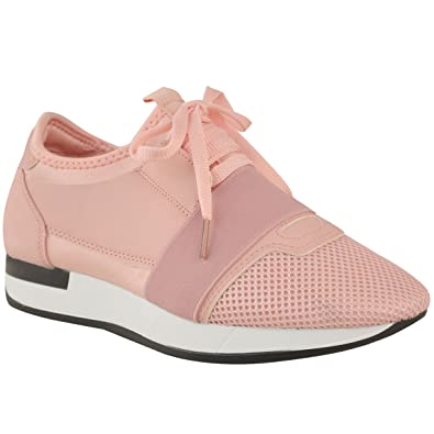 bb16c81398387 Womens Ladies Girls Lace Up Trainer Bali Runner Stretch Band Walking Gym  Shoes: Amazon.co.uk: Shoes & Bags