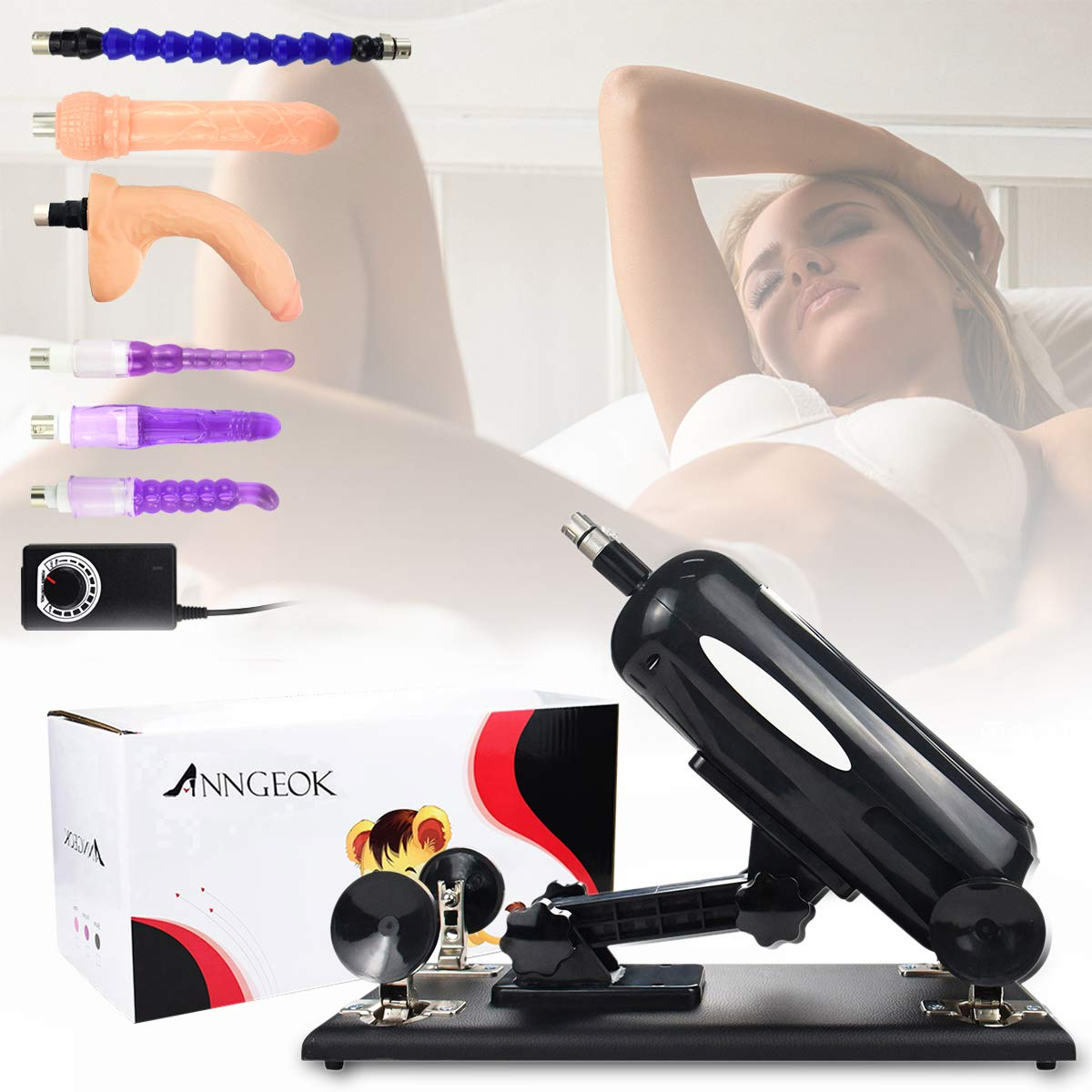 Stress Relaxation Women Massage Tool ANNGEOK Machine Sex with Stong Power
