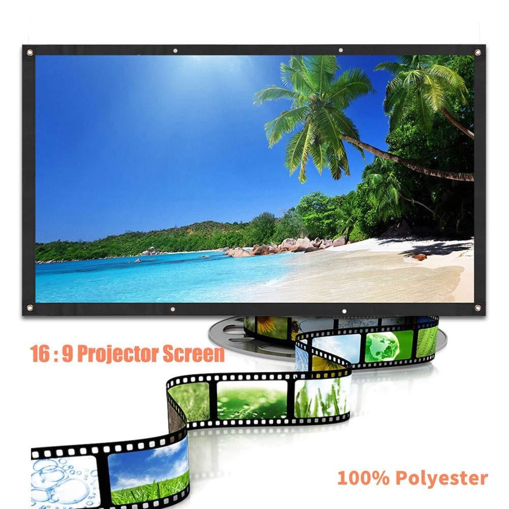 und R/ückprojektion WEISY Projektionsfl/äche 60 Zoll Outdoor Indoor 9 HD Faltbare Filmleinwand f/ür Heimkino-Front tragbare Projektionsfl/äche 16