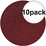 Sait 35098 6'' 60 Grit Abrasive Sanding Disc Adhesive Backed 10-Pack