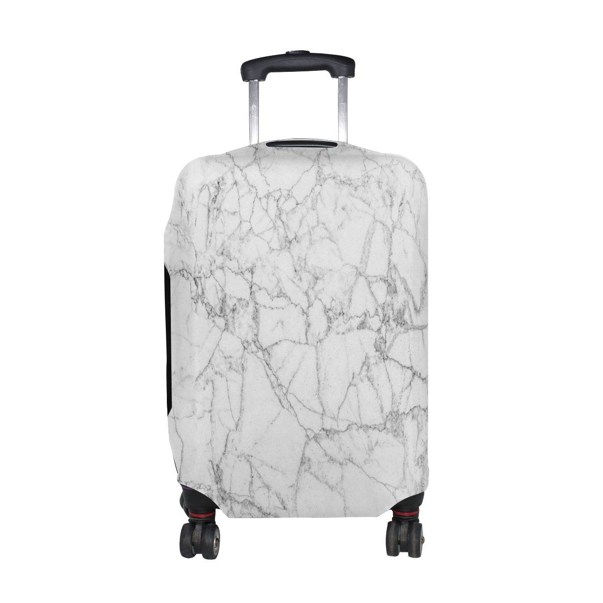 Cooper girl White Marble Travel Luggage Cover Suitcase Protector Fits 31-32 Inch