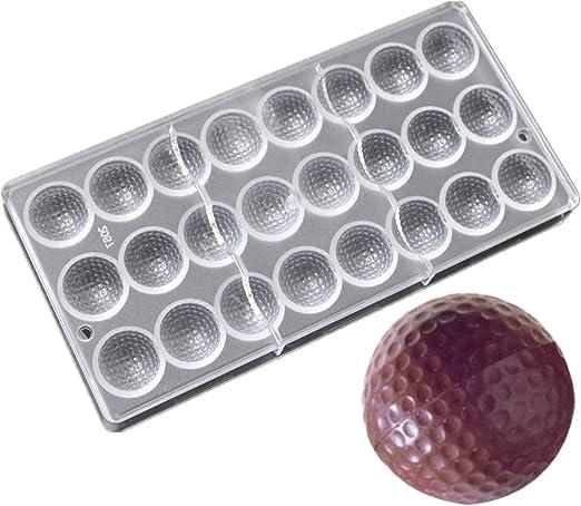 24 cavidades forma de pelota de Golf PC policarbonato moldes de ...