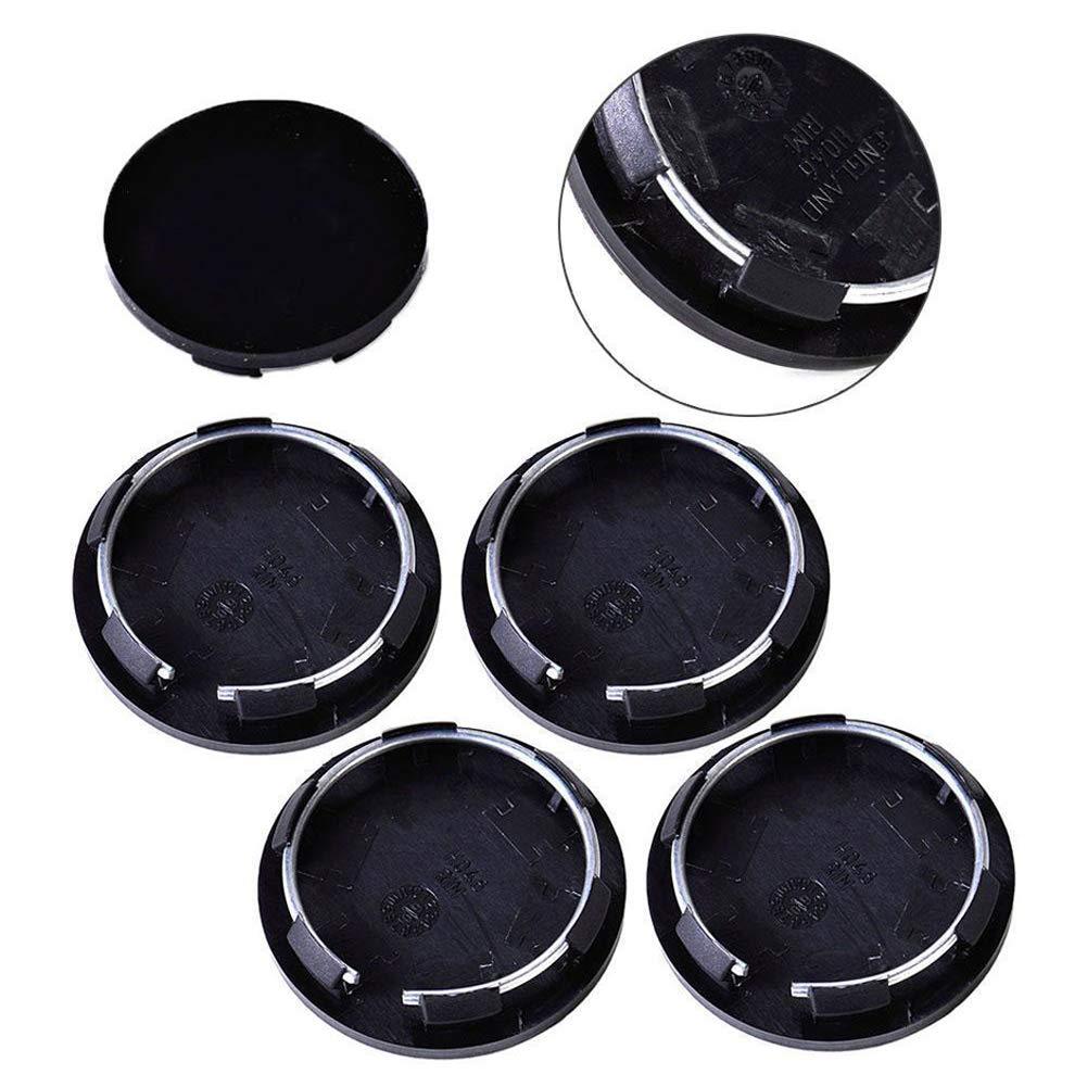 Cubierta de buje para ruedas, 4 tapas de llantas universales de 50 mm, para tapacubos de rueda de coche, color negro: Amazon.es: Bricolaje y herramientas