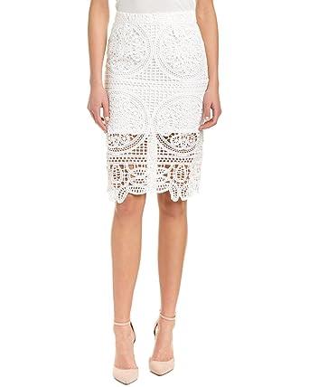 J.O.A. JOA Crochet Falda de la Mujer - Blanco -: Amazon.es: Ropa y ...